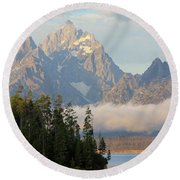 Teton Early Morning Round Beach Towel