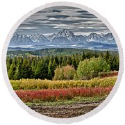 Tetons Round Beach Towel