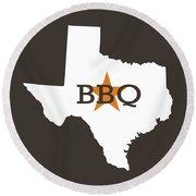 Texas Bbq Round Beach Towel