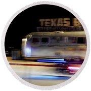 Texas Beer Fast Motorcycle #5594 Round Beach Towel by Barbara Tristan