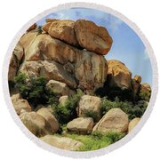 Texas Canyon Round Beach Towel