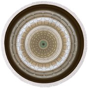 Round Beach Towel featuring the photograph Texas Capital by Robert Meanor