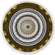 Texas Capitol Dome Round Beach Towel
