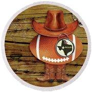 Texas Football Round Beach Towel