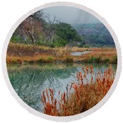 Texas Hill County Color Round Beach Towel