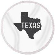 Texas Map Tee Round Beach Towel