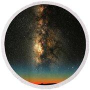 Texas Milky Way Round Beach Towel