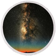 Texas Milky Way Round Beach Towel