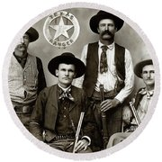 Texas Rangers C. 1890 Round Beach Towel