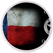 Texas Rangers Motto - One Riot, One Ranger  2 Round Beach Towel