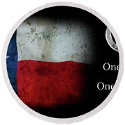 Texas Rangers Motto - One Riot, One Ranger Round Beach Towel by Daniel Hagerman