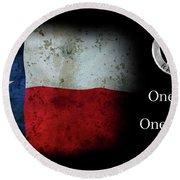 Texas Rangers Motto - One Riot, One Ranger Round Beach Towel