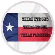 Texas Strong Round Beach Towel