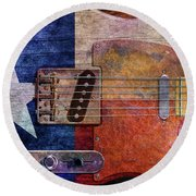 Texas Tele Two Round Beach Towel