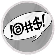 Text Bubble Round Beach Towel