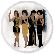 Texting With Style Round Beach Towel