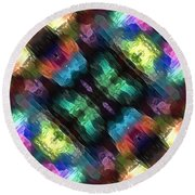 Textural Abstract Of Colors Round Beach Towel