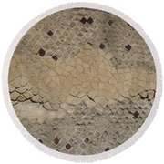 Textural Antiquities Herculaneum Wall Two Round Beach Towel
