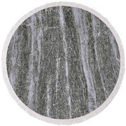 Round Beach Towel featuring the photograph Texture In Grey by Nareeta Martin