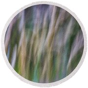 Textured Abstract Round Beach Towel