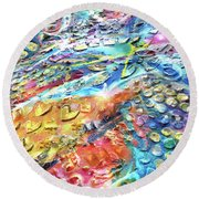 Textured Color Play 2 Round Beach Towel