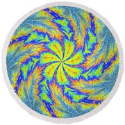 Textured Colors Round Beach Towel