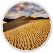 Textured Dunes  Round Beach Towel