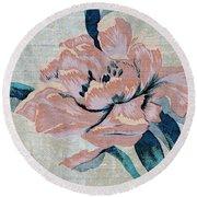 Textured Floral No.2 Round Beach Towel