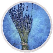Textured Lavender  Round Beach Towel by Stephanie Frey