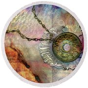 Textured Past Round Beach Towel
