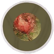 Round Beach Towel featuring the painting Textured Rose Art by Mary Wolf