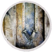 Round Beach Towel featuring the photograph Textured Wall by Marion McCristall