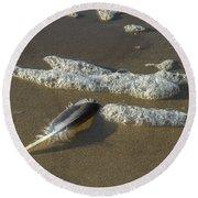 Textures Round Beach Towel
