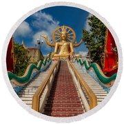 Thai Big Buddha Round Beach Towel