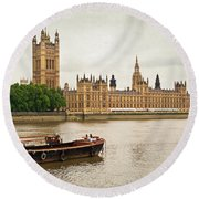 Round Beach Towel featuring the photograph Thames by Keith Armstrong