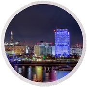 Thames Panorama Round Beach Towel