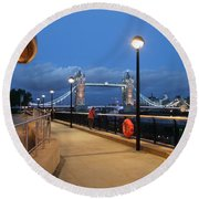 Thames Path Round Beach Towel