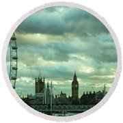Thames View 1 Round Beach Towel