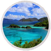 Thank You St. John Usvi Round Beach Towel