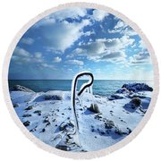 Round Beach Towel featuring the photograph That One Weird Thing by Phil Koch