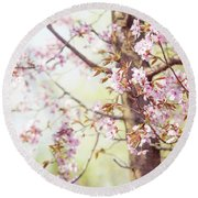 Round Beach Towel featuring the photograph That Tender Joyful Spring by Jenny Rainbow