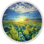 That Voices Never Shared Round Beach Towel by Phil Koch