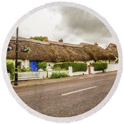 Thatched Cottages Round Beach Towel