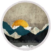Thaw Round Beach Towel