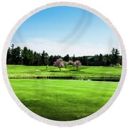 The 18th At Townsend Ridge Round Beach Towel