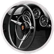 The 356 Roadster Round Beach Towel