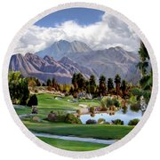 The 5th At Woodhaven Round Beach Towel
