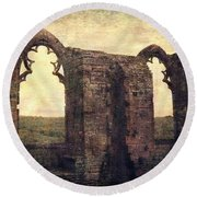 The Abbey Ruins Round Beach Towel