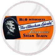 The Abraham Lincoln Round Beach Towel