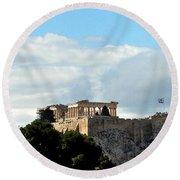 The Acropolis  Round Beach Towel